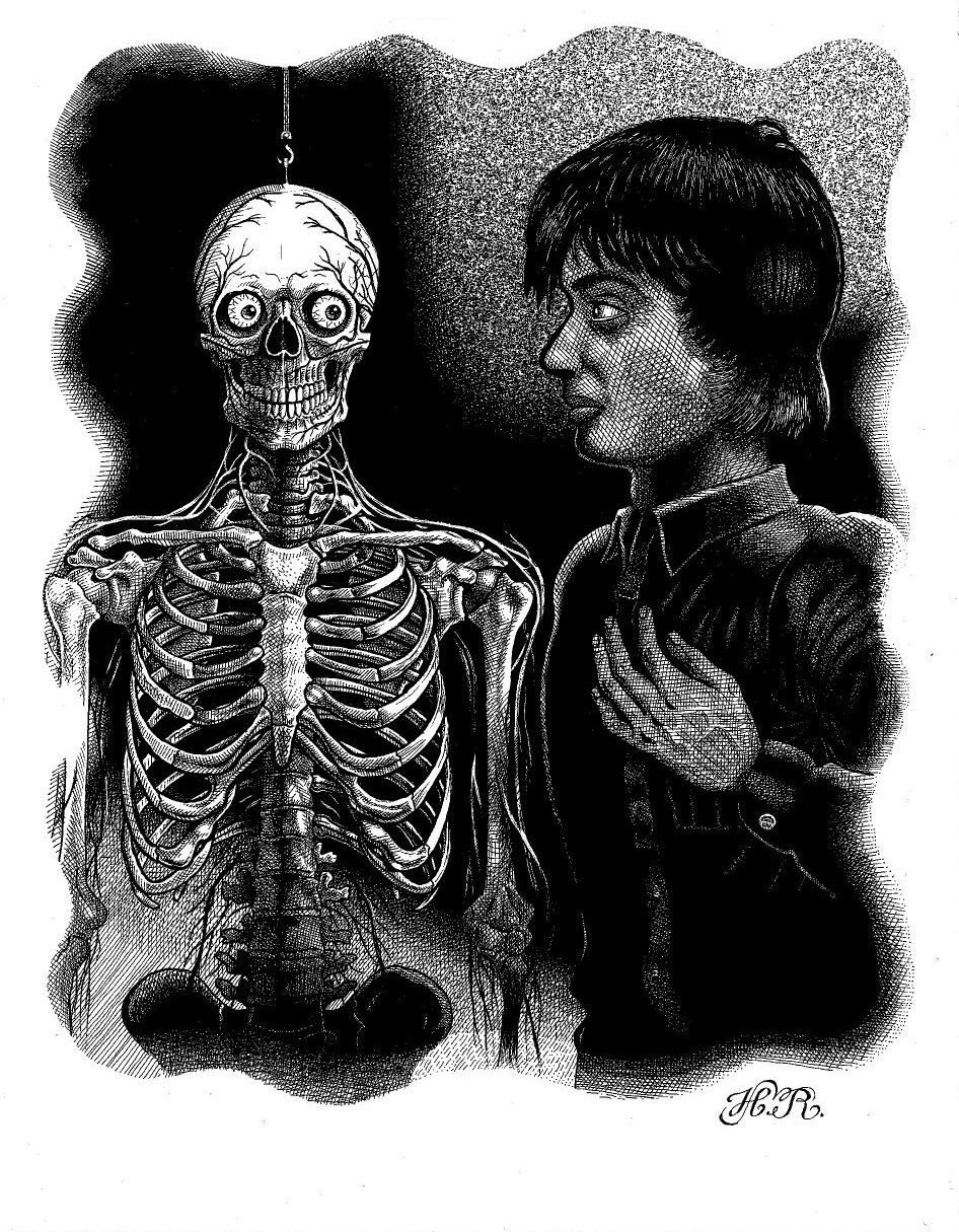 Illustration for Then A Skeleton Popped Out By Hal Robins